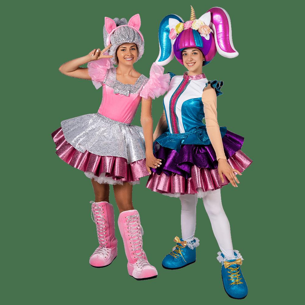Аниматоры Куклы ЛОЛ (LOL) Китти и Единорожка