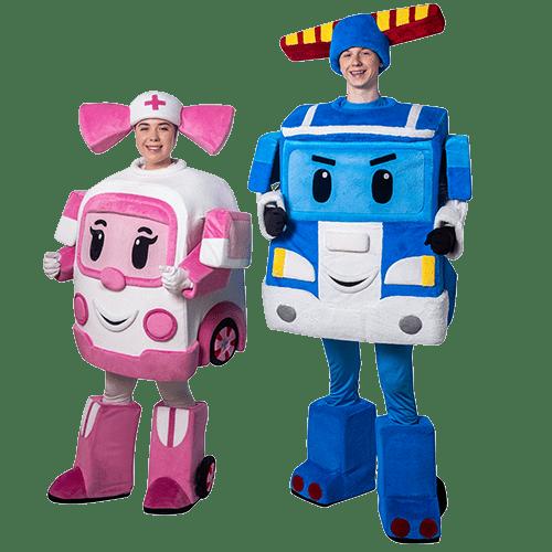 Аниматоры Робокары Поли и Эмбер